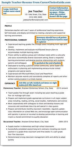 First Year Teacher Resume Examples Sample Teacher Resume Page 1  For The Classroom  Pinterest  Teacher