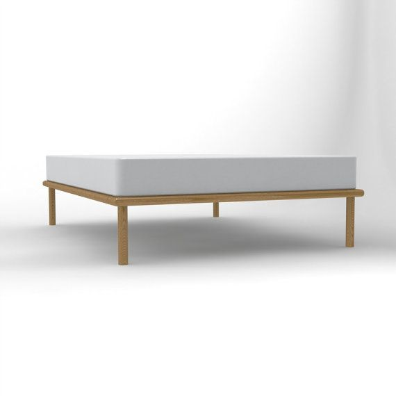 Platform Bed No. 4 - Ash Bed Frame with Dovetail Detail ... on Modern Boho Bed Frame  id=63958