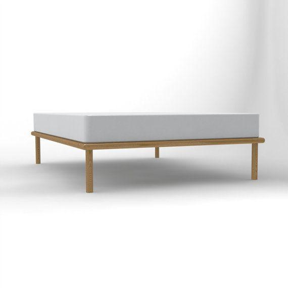 Platform Bed No. 4 - Ash Bed Frame with Dovetail Detail ... on Modern Boho Bed Frame  id=63958