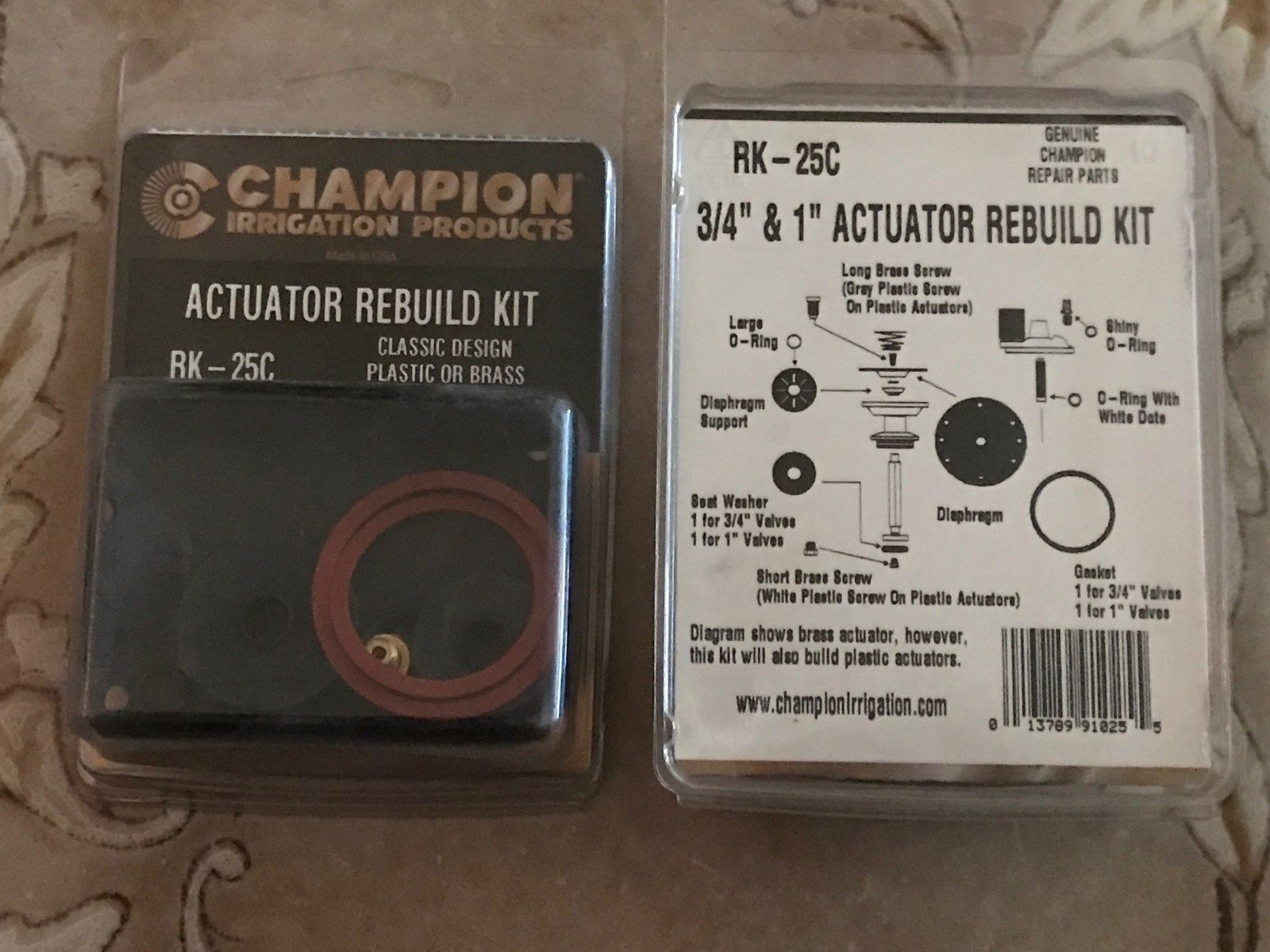 Lawn Sprinklers 20542 Champion Rk 25c 1 Or 3 4 Inch Actuator Repair Kit 2 A Pair Of Buy It Now Only 12 95 On Ebay Sprin Lawn Sprinklers Actuator Repair