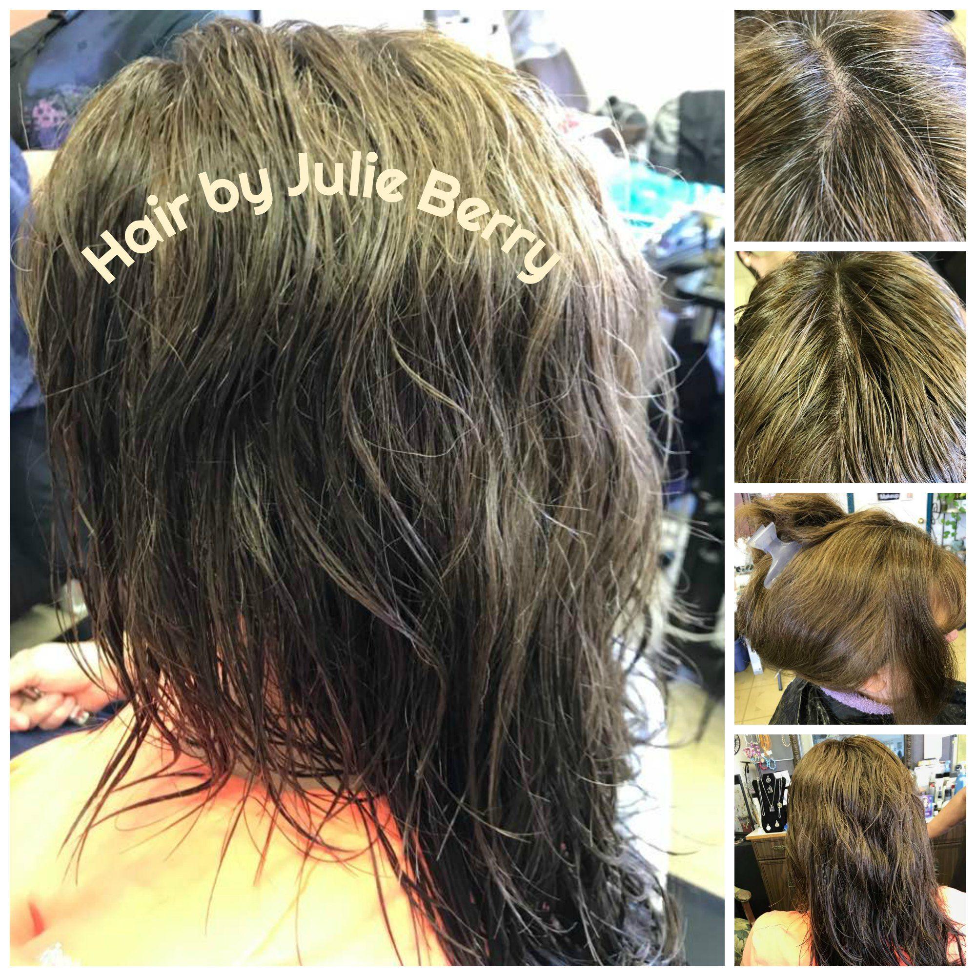 Removal Of The Offending Grey Glitter Strands Hair By Julie Berry Ladiesandgentlemenshairstudio Delcity 405 670 5336 Hair Studio Long Hair Styles Hair