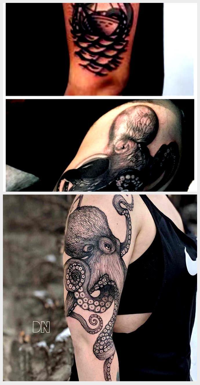 Photo of Blackwork Tattoo Bild 2016 von Pirante Schiff Tattoo mit Octopus Tattoo für Arm …, #Arm #B …