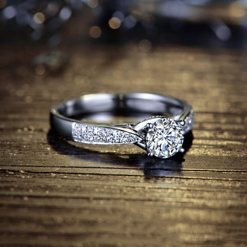 "1 Ct Rond Coupe Brillant Diamant Pendentif en 14k solide or blanc 18/"" Collier"