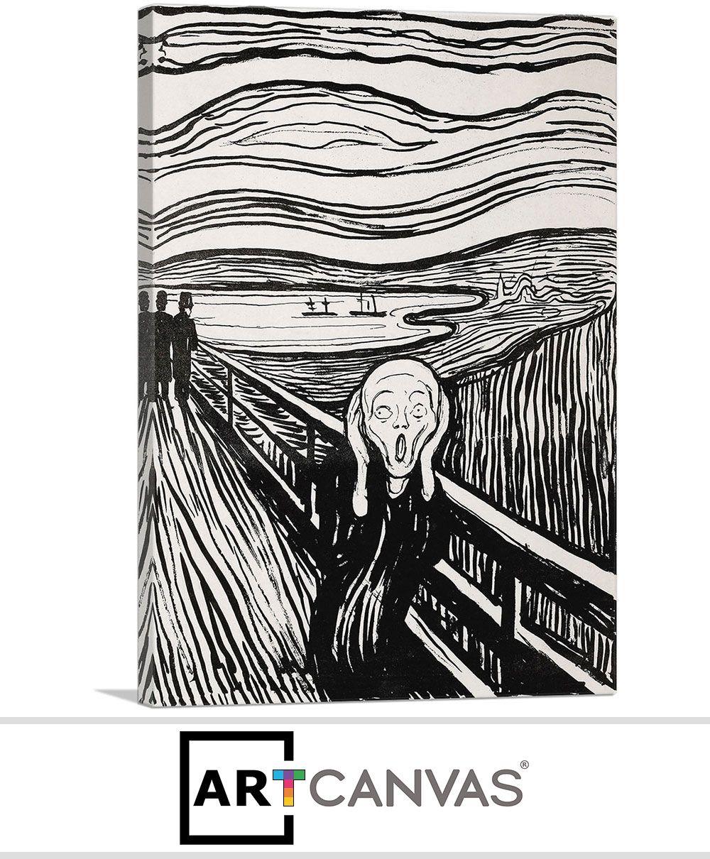 The Scream Black and White 1895   Serigraph, Edvard munch