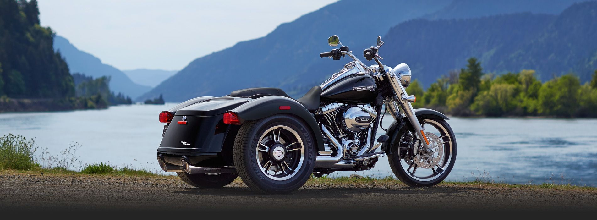 Harley Davidson Freewheeler Black Three Wheels For Easy Handling 2014 Sportster Wiring Diagram Plenty Of Trunk Space Getting Out Town A Few Nights