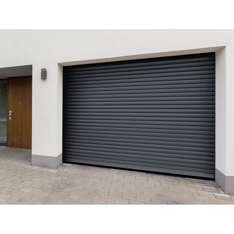 Porte De Garage A Enroulement Motorisee Artens Essentiel H 200 X L 300 Cm En 2020 Porte Garage Garage Et Portes