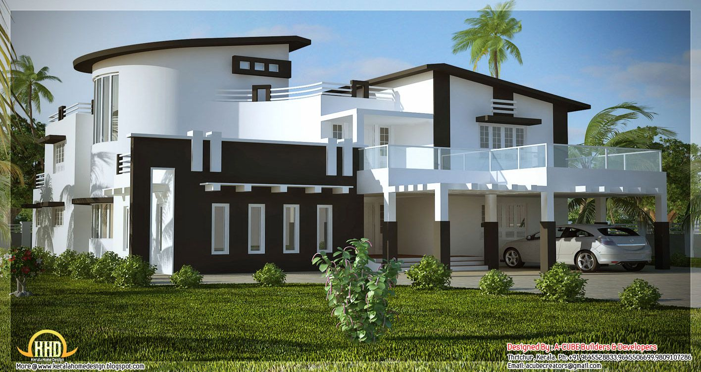 unique home designs unique stylish trendy indian house elevation kerala home design - Stylish Home Design