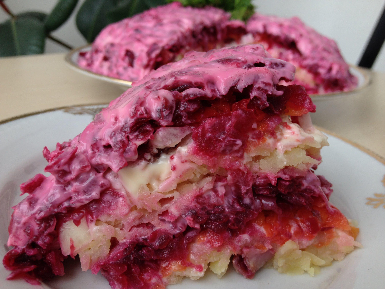 салат с селедкой рецепт пошагово с фото
