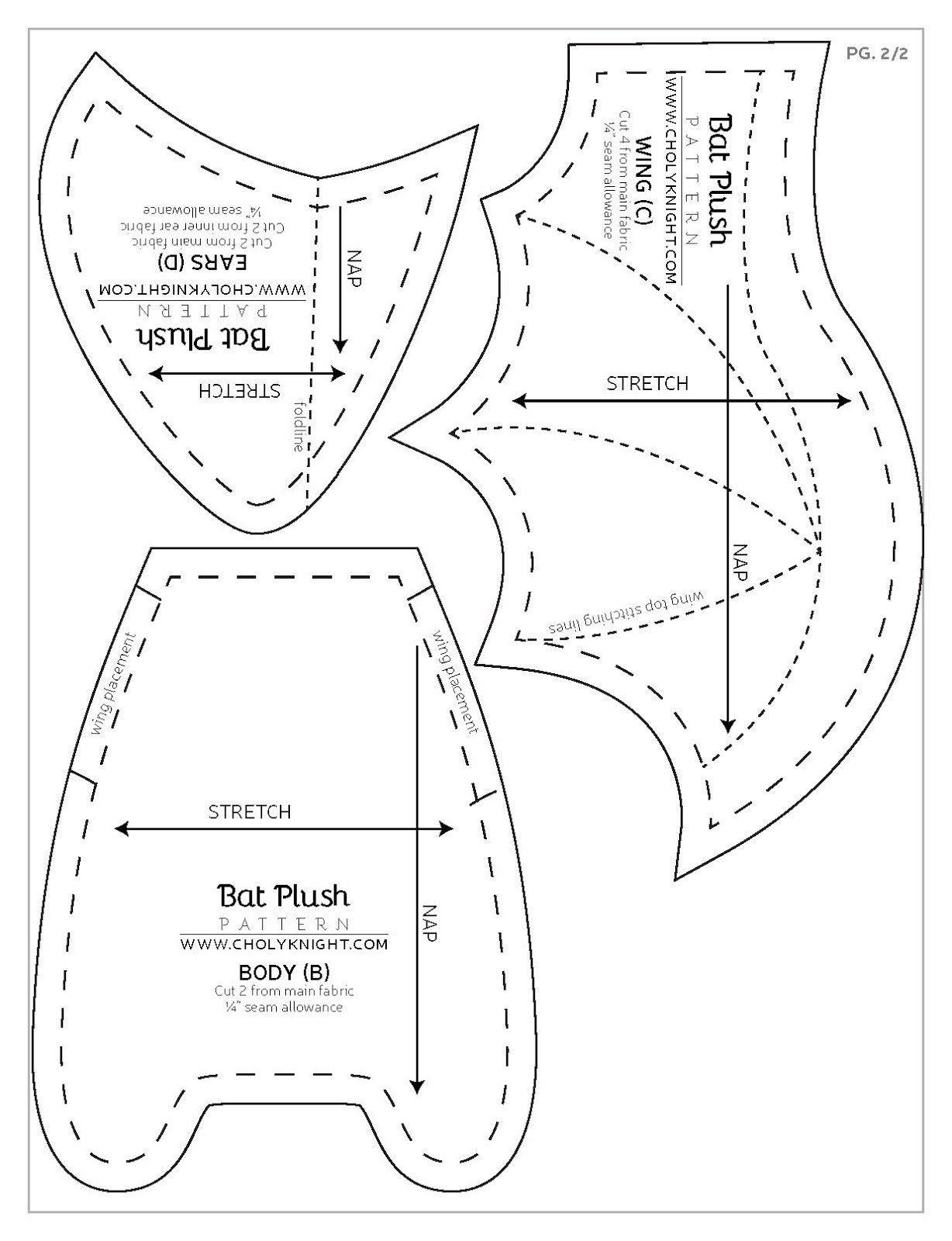 Moldes para hacer un murcielago en fieltro paso a paso - Ideas de ...