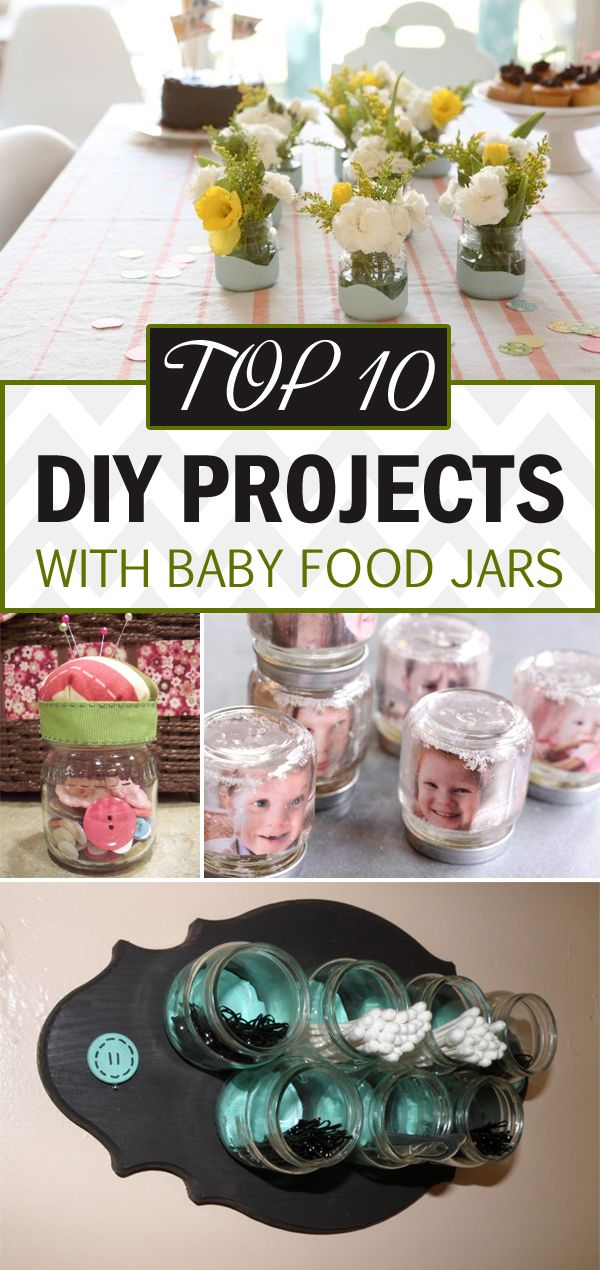 14 Cool Things To Do With Baby Food Jars Baby Food Jar Crafts Baby Jar Crafts Baby Food Jars Diy