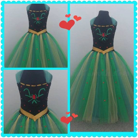 frozen anna inspired tutu dress by princessfantancyland on Etsy