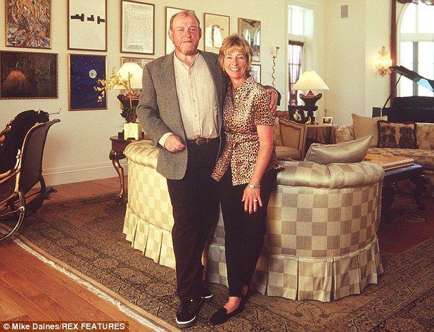 Joe Cocker and his wife Pam Baker in 1996.   Joe cocker
