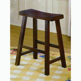 Homelegance Set Of 2 Saddleback Warm Cherry 24 In Counter Stools 5302c Bar Stools Home Bar Furniture Kitchen Bar Stools