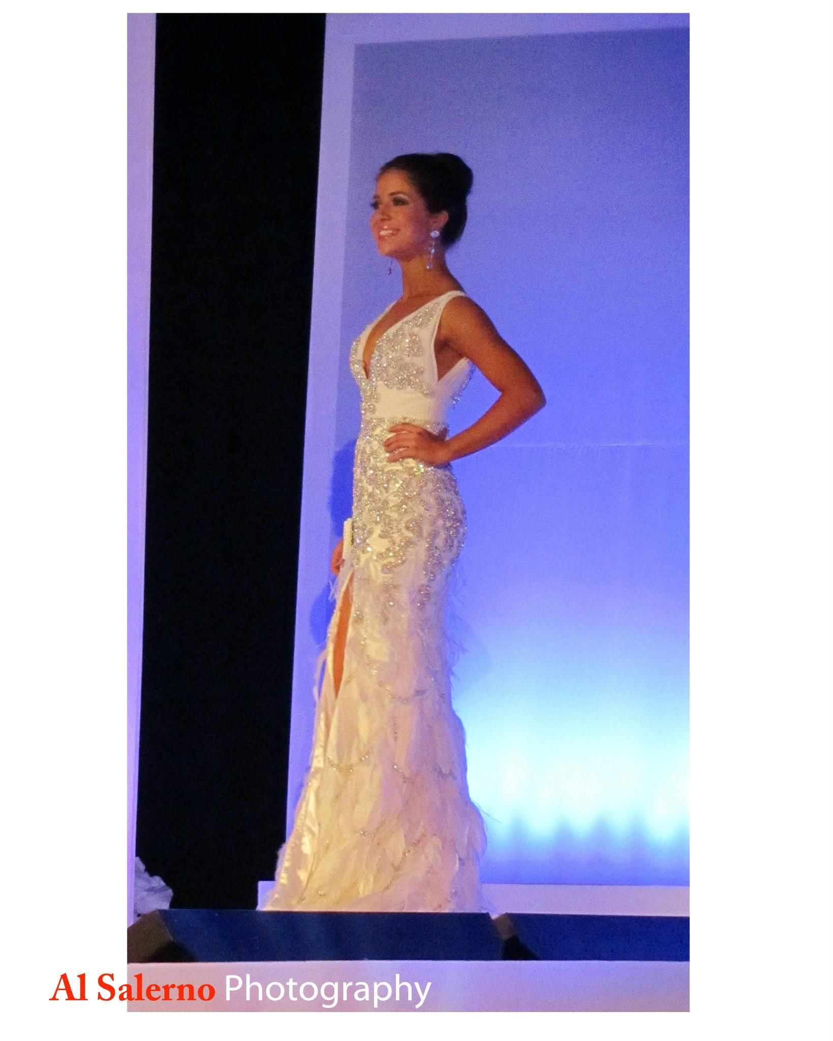 Miss Leah Cordle, finalist, Miss VA Teen USA. Mac Duggal exclusive pageant  gown. Tricia's by Design