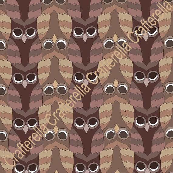 12 X 12 Tessellated Owl Print in 3 color Options