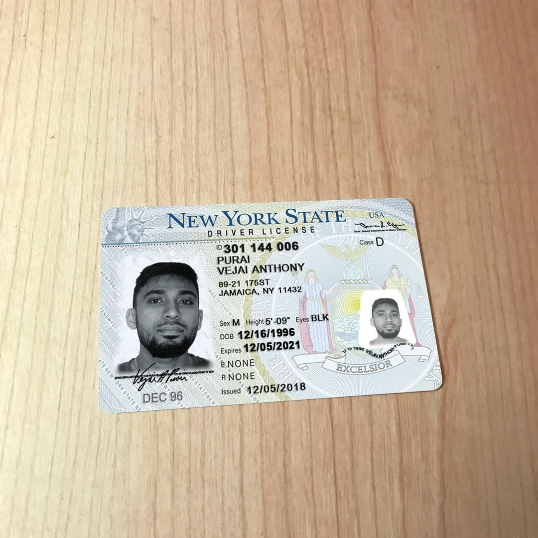 Pin By Stan Lu On New York Driver S License Passport Template