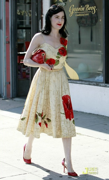 Dita. It's daytime. She is wearing that. Love her.