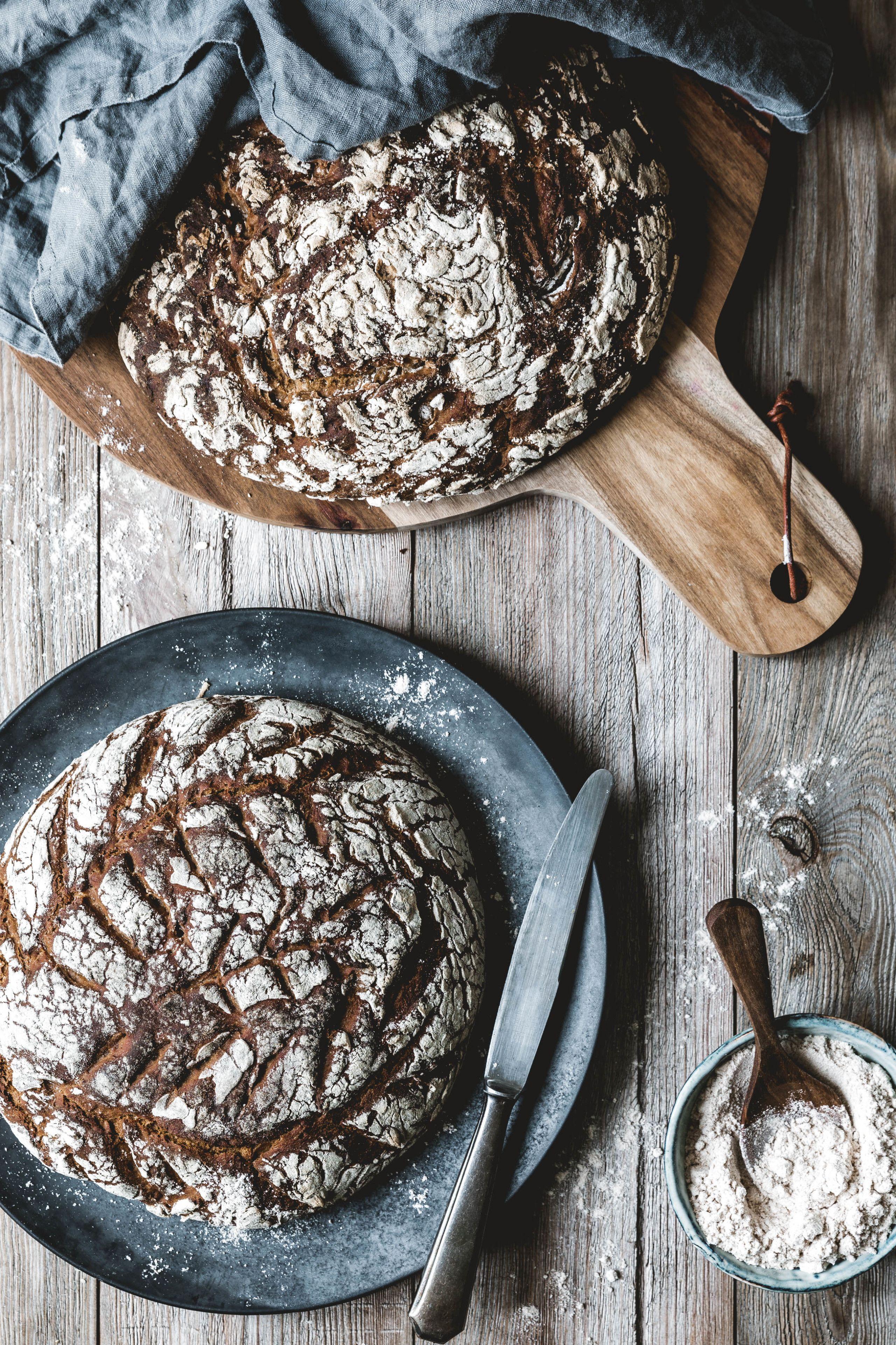 Reines Roggenbrot Mit Sauerteig Rezept Brot Backen Sauerteig Roggenbrot Mit Sauerteig Und Roggenbrot