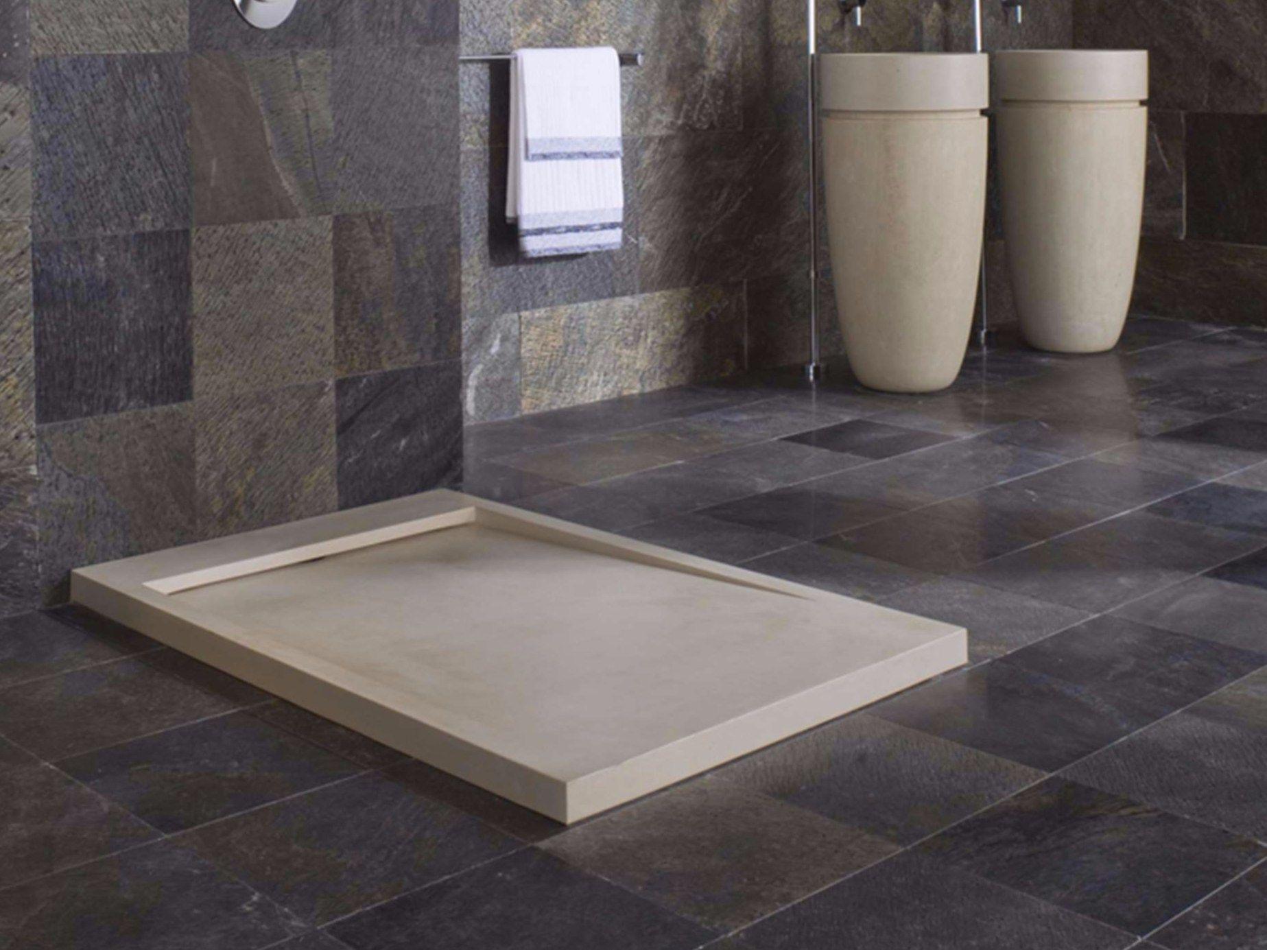 Rectangular natural stone shower tray essence l 39 antic - Piatto doccia duravit ...