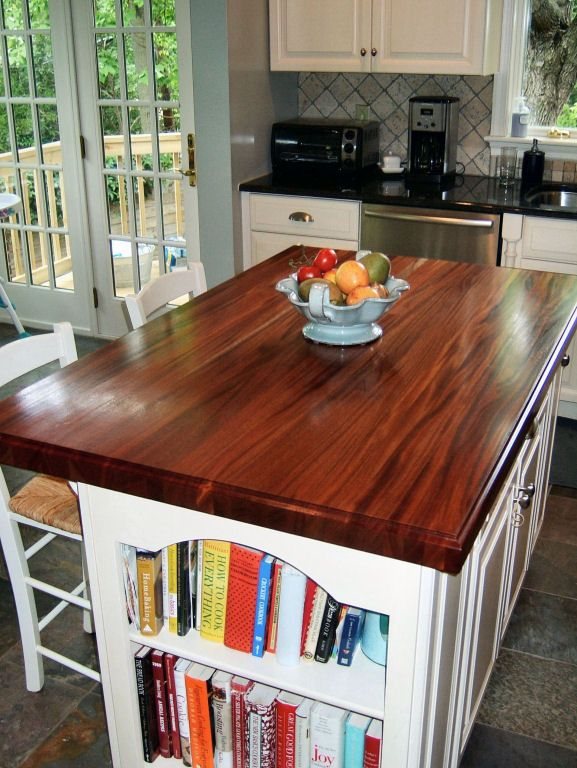 Custom Wood Kitchen Islands african mahogany - custom wood countertops, butcher block