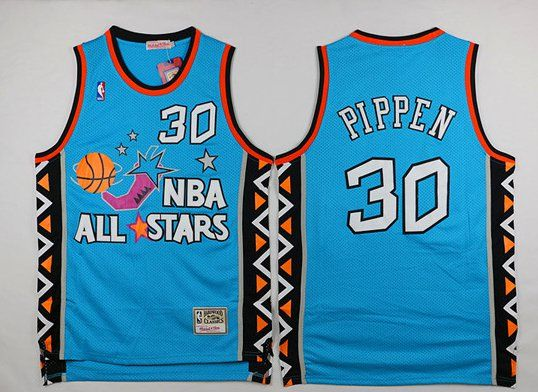 63dd228e2 Chicago+Bulls+NBA+All-Star+Scottie+Pippen+Green+1996+Game+Retro+Jersey+30