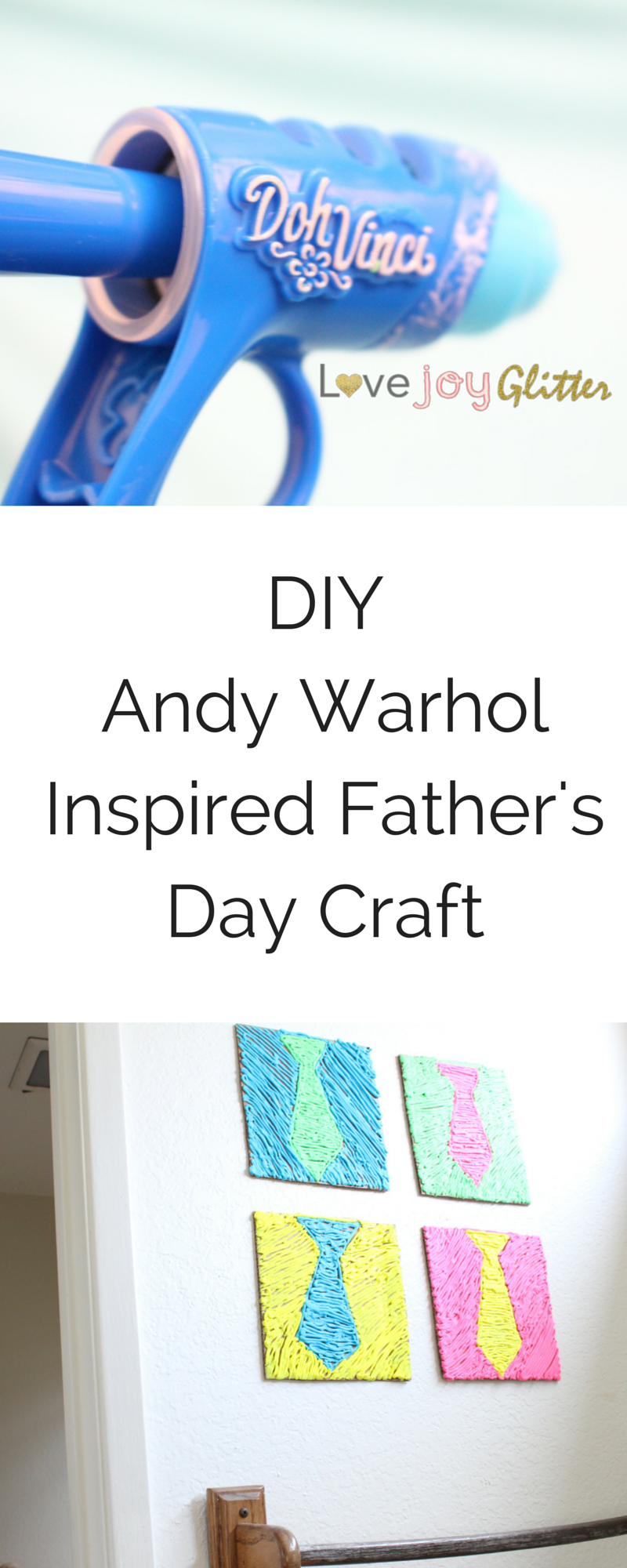 Cute craft idea for kids to make for Father's Day! Love it!