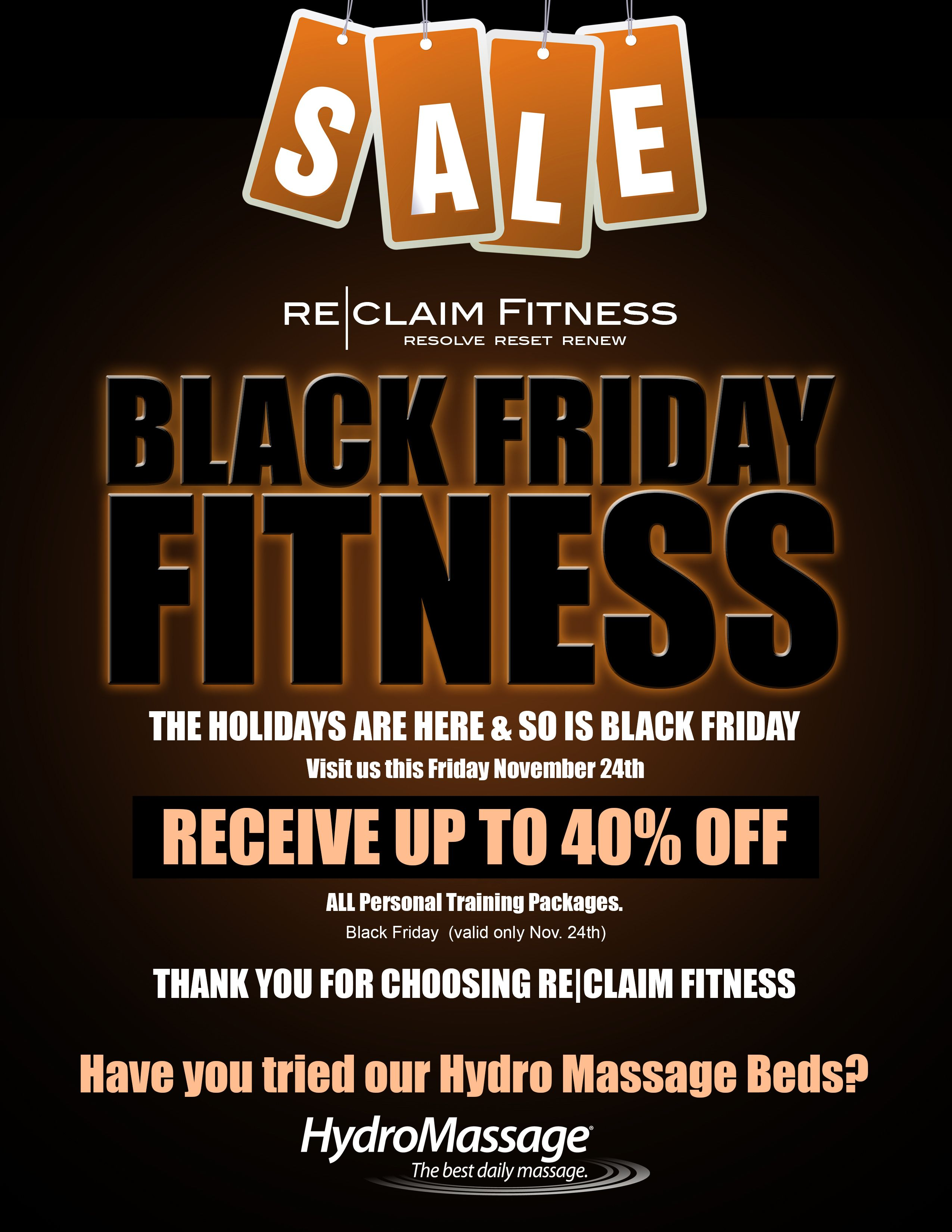 Get ready for our Black Friday sale! Head over to the gym