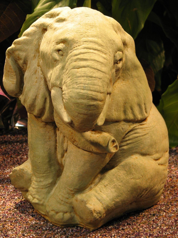 Elephant Statue Stone Sculpture Statues Garden Art 400 x 300