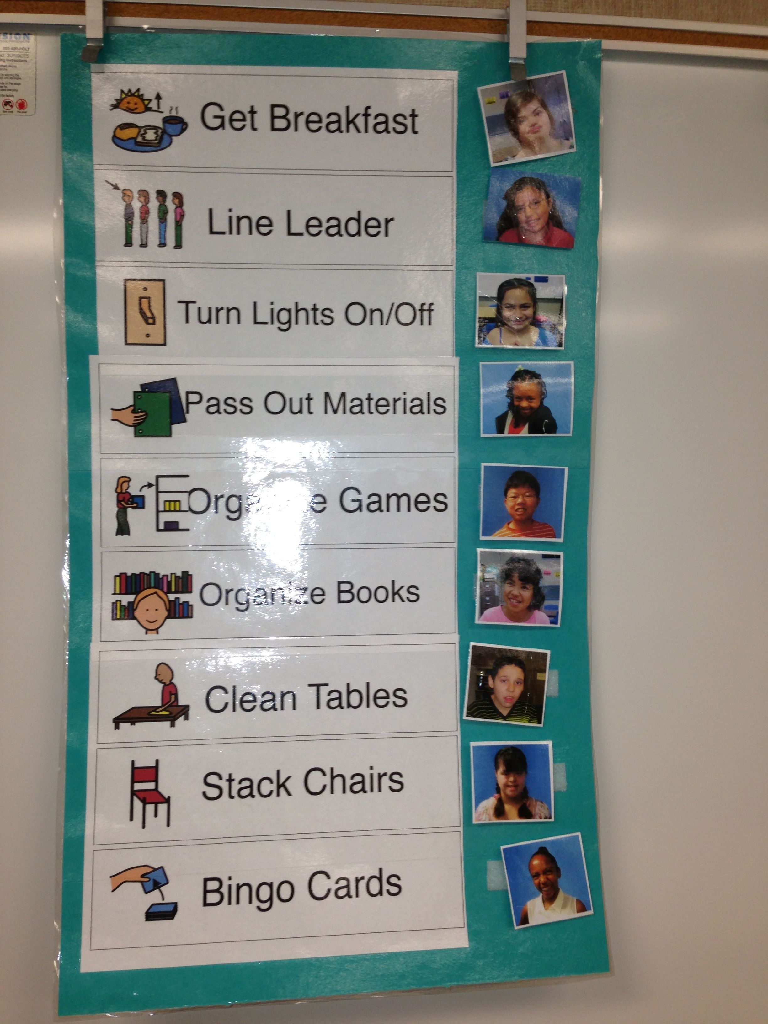 Classroom Jobs I Did This With My Older Preschool Group Last Year Class Jobs Not This