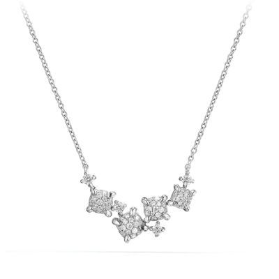 Precious Chatelaine Necklace with Diamonds in 18K White