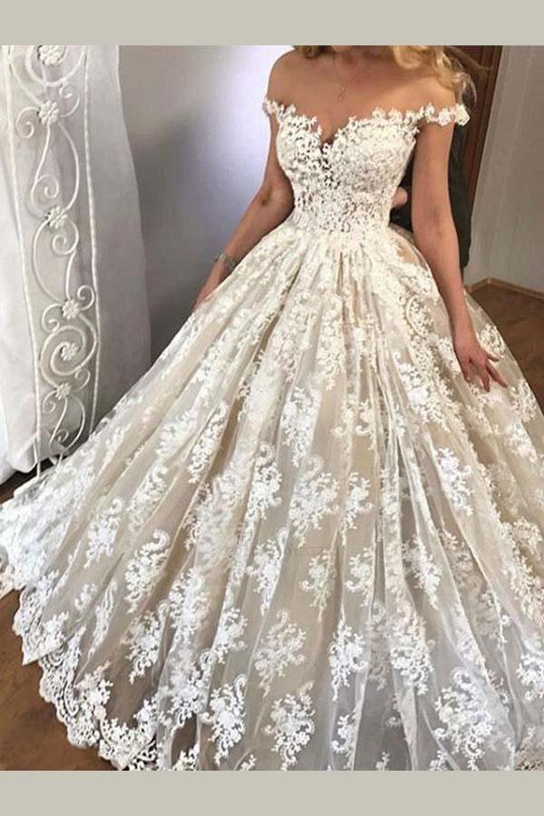 Lace Wedding Dresses Wedding Dresses For Cheap Wedding Dresses Vintage Wedding Dresses Ball Prom Dresses Ball Gown Wite Prom Dresses Ball Gown Wedding Dress