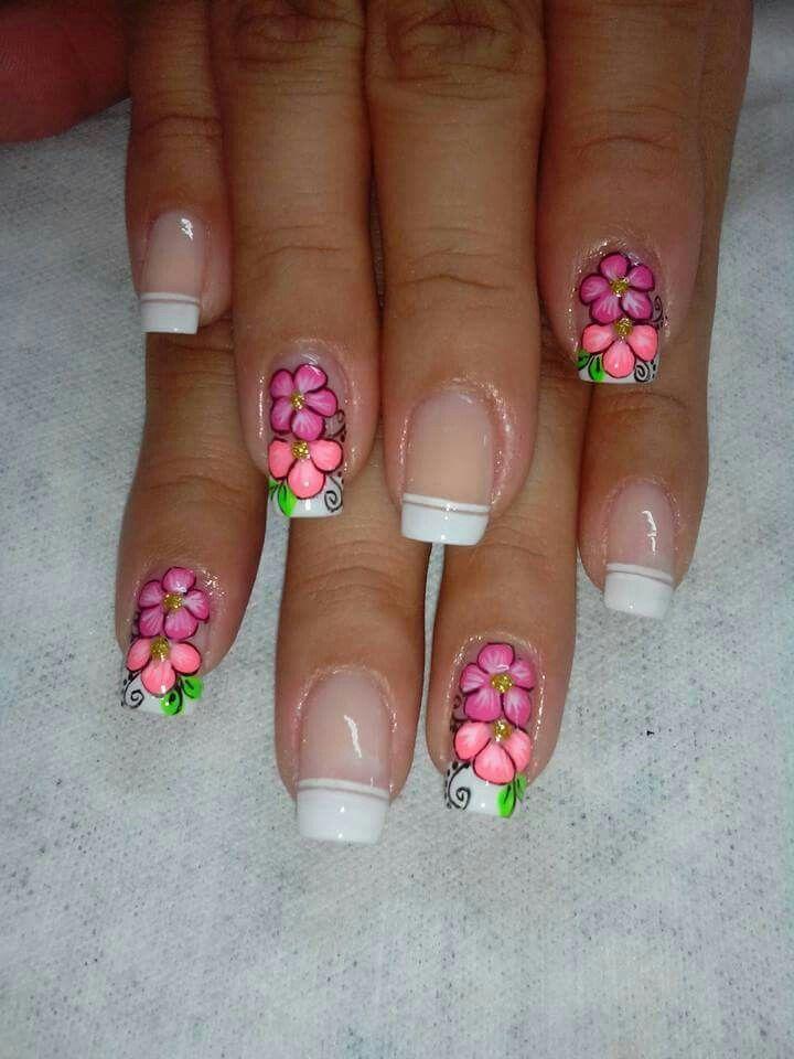 Flores u as pinterest manicure - Modelos de unas pintadas ...