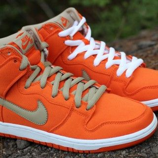 "Nike SB Dunk High ""Urban Orange"" • EU Kicks: Sneaker Magazine  That's orange canvas right there."