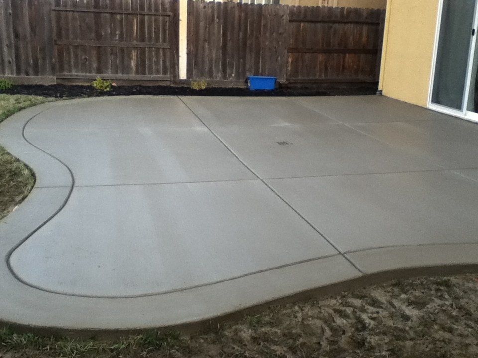 broom finish concrete patio