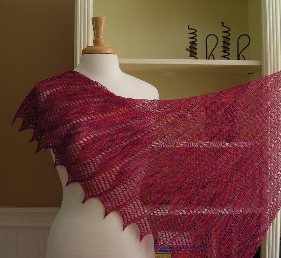 Lace Shawl Knitting Pattern PDF - Mistral Shawl - French ...