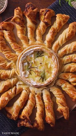 Baked Camembert With Pancetta Breadstick Twists ~