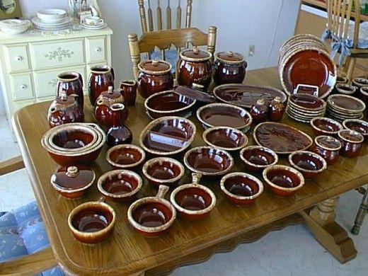 Vintage \ Hull\  dinnerware Brown Drip & Vintage \