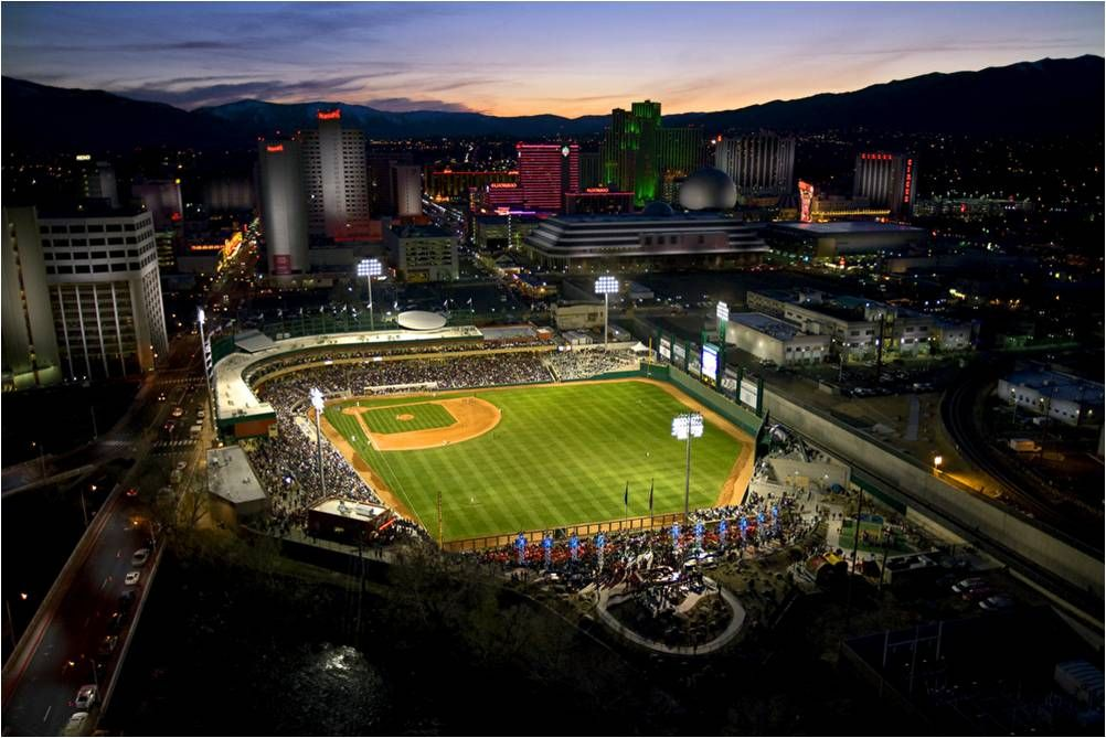 Reno Loves It S Home Baseball Team The Reno Aces The 2012 Triple A National Champions Click To See The 2013 Aces Sched Reno Tahoe Baseball Park Reno Events