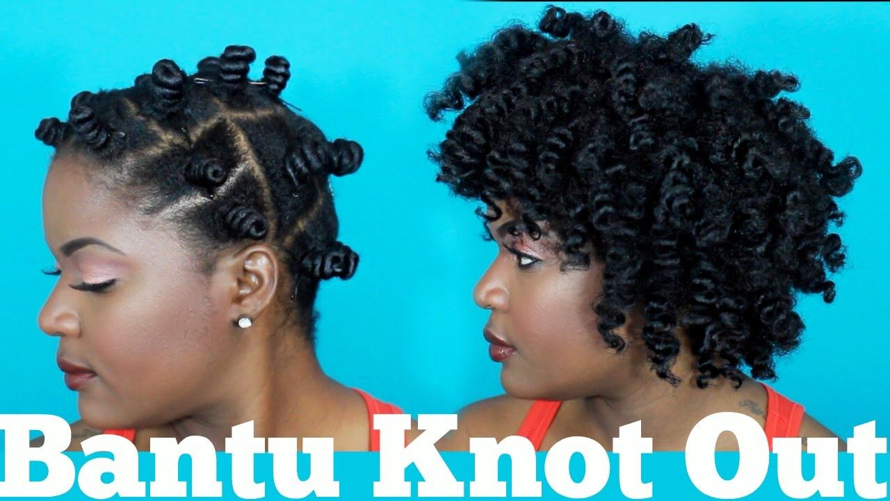 My First Bantu Knot Out TUTORIAL 4a4b4c Friendly YouTube
