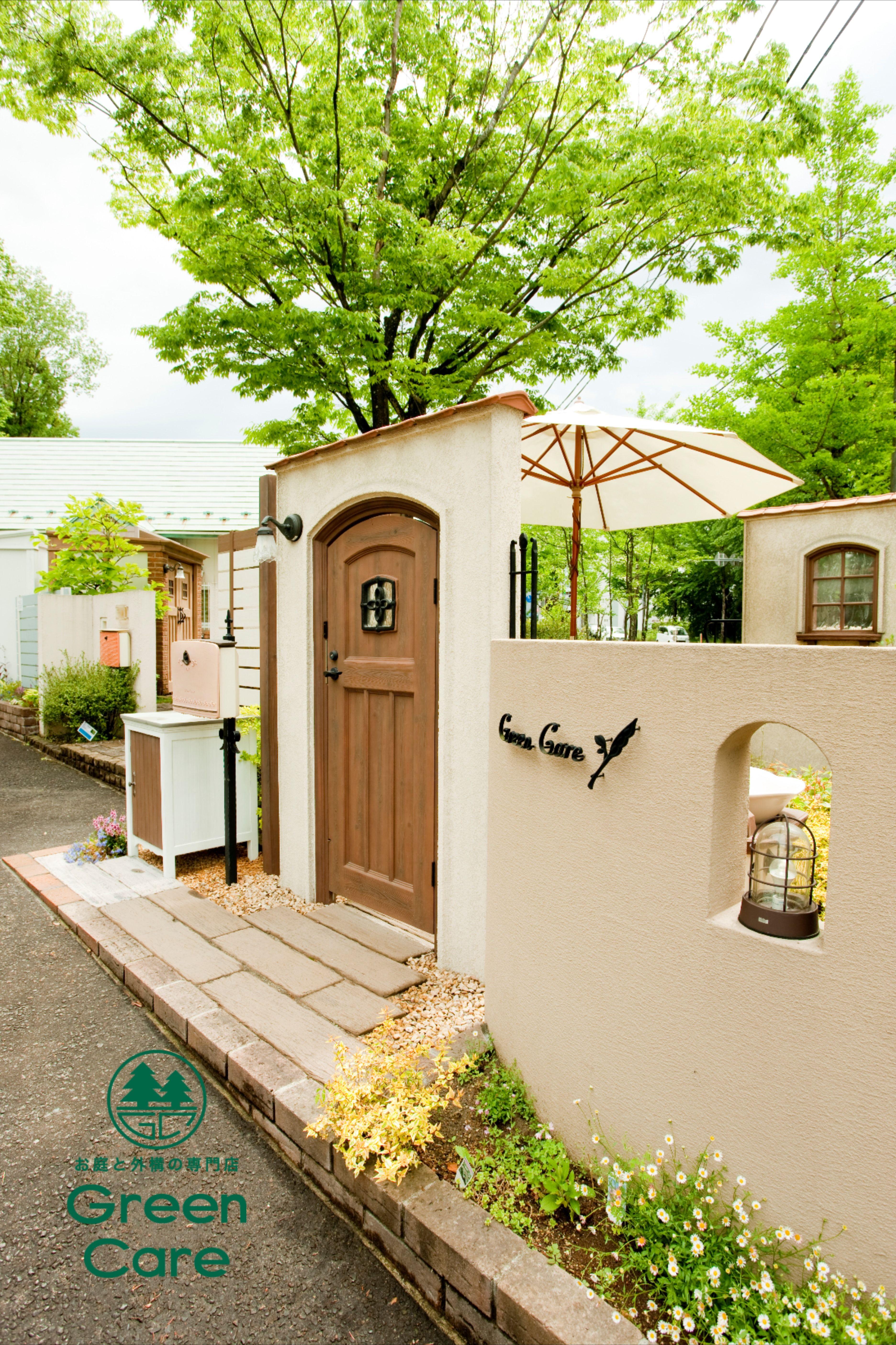 Entrance to the garden with cute door