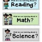 These small, simple headers can be posted on a wall or used in a pocket chart so you can display your essential questions for each subject area you...