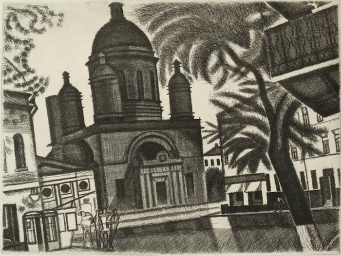 Захаров Гурий Филиппович (Россия, 1926-1994) «Андрониковская площадь» из серии «Москва» 1972