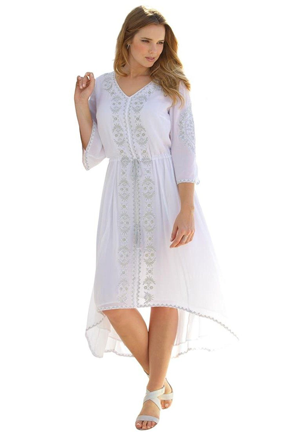 women's plus size embroidered shirtdress >>> awesome product