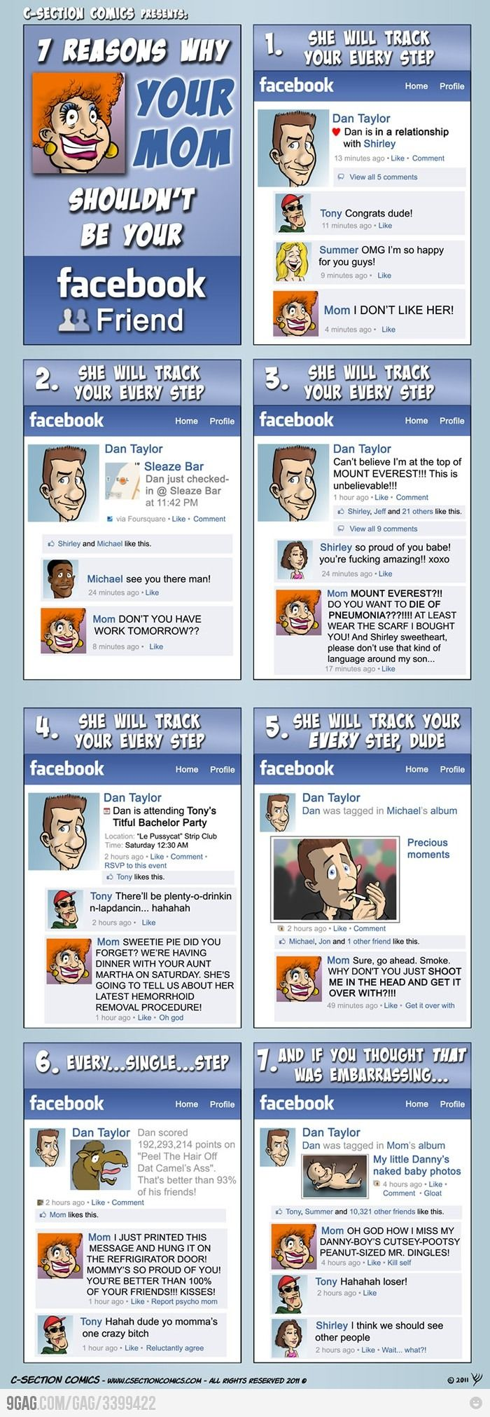 7 Reasons Why Your Mom Shouldn't Be Your Facebook Friend