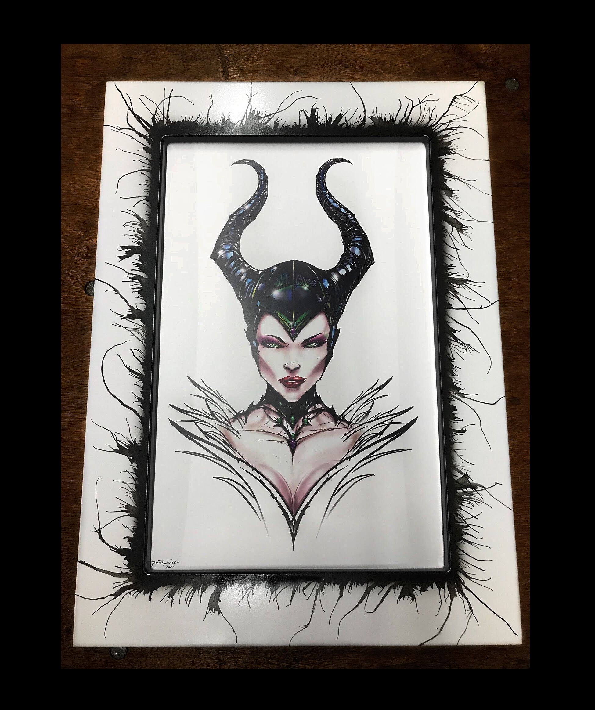 Maleficent by Jamie Tyndall with the \