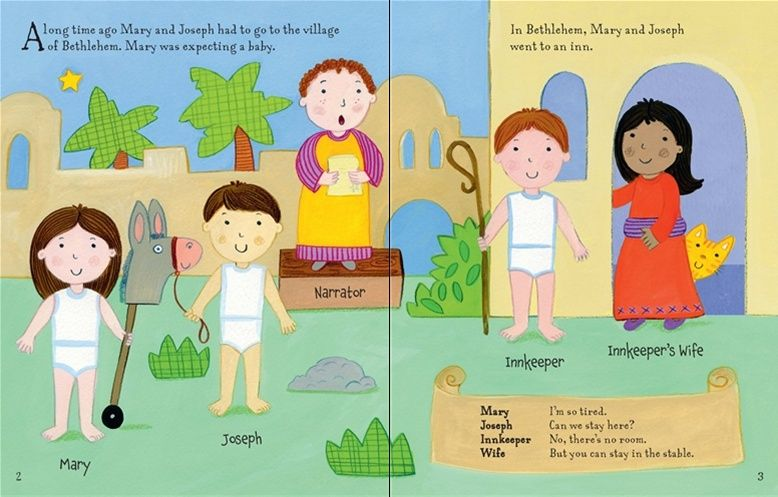 See inside \'Nativity sticker and colouring book\' from Usborne ...