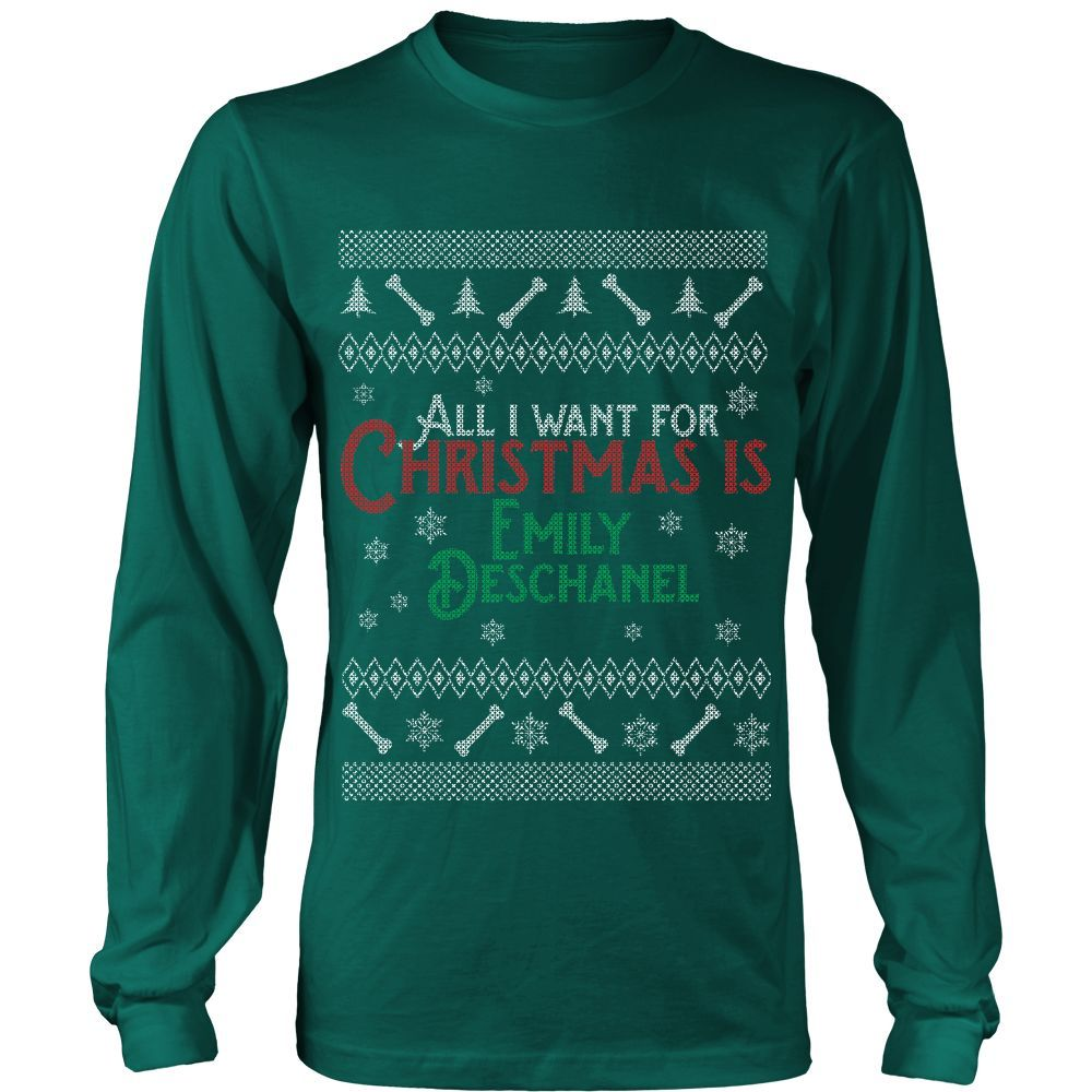 Christmas Is Emily Deschanel - Ugly Sweater LIMITED EDITION