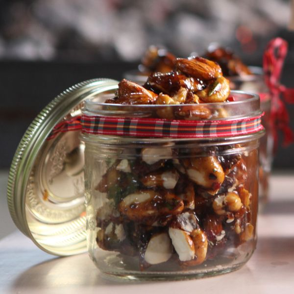 Hot Nuts || Spicy sweet and salty cashew, almond and Brazil nuts, served warm and bursting with flavour.
