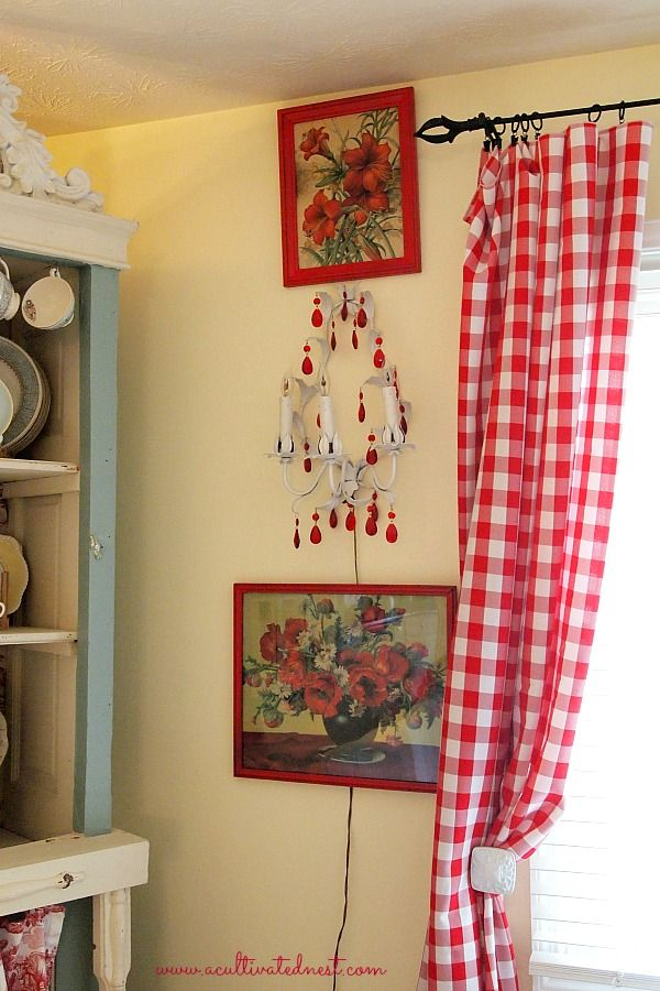 My New Red Buffalo Check Living Room Curtains | Cottage style ...