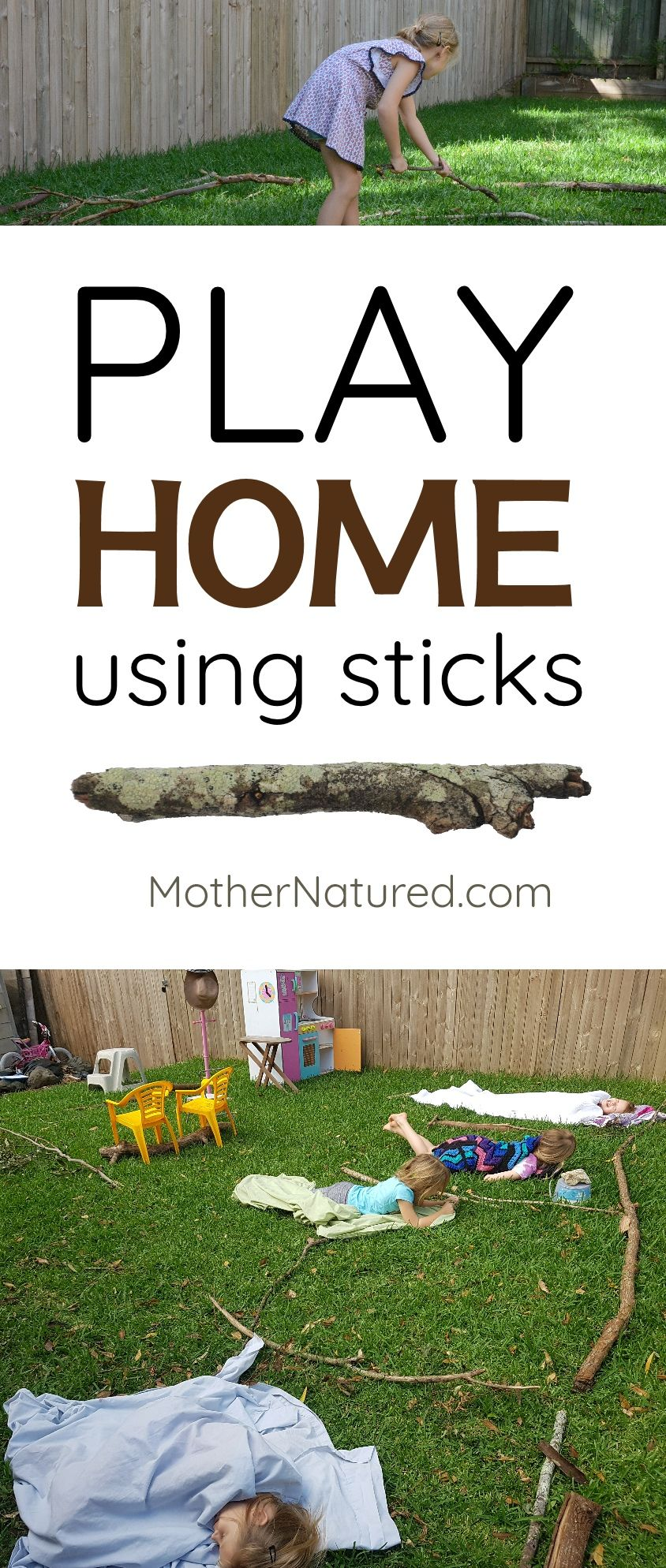 Building a stick house builds creative and confident kids ...